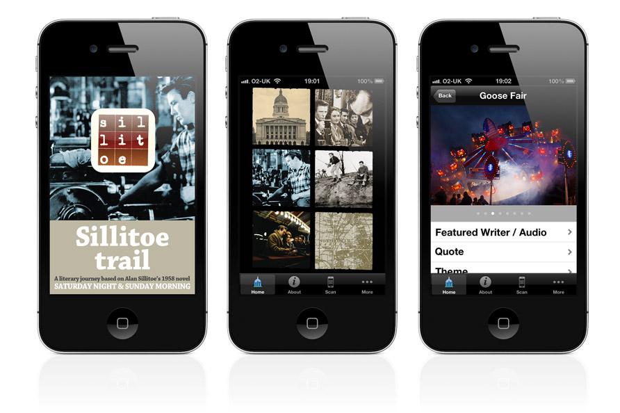 The Sillitoe Trail App explores themes from Saturday Night and Sunday Morning