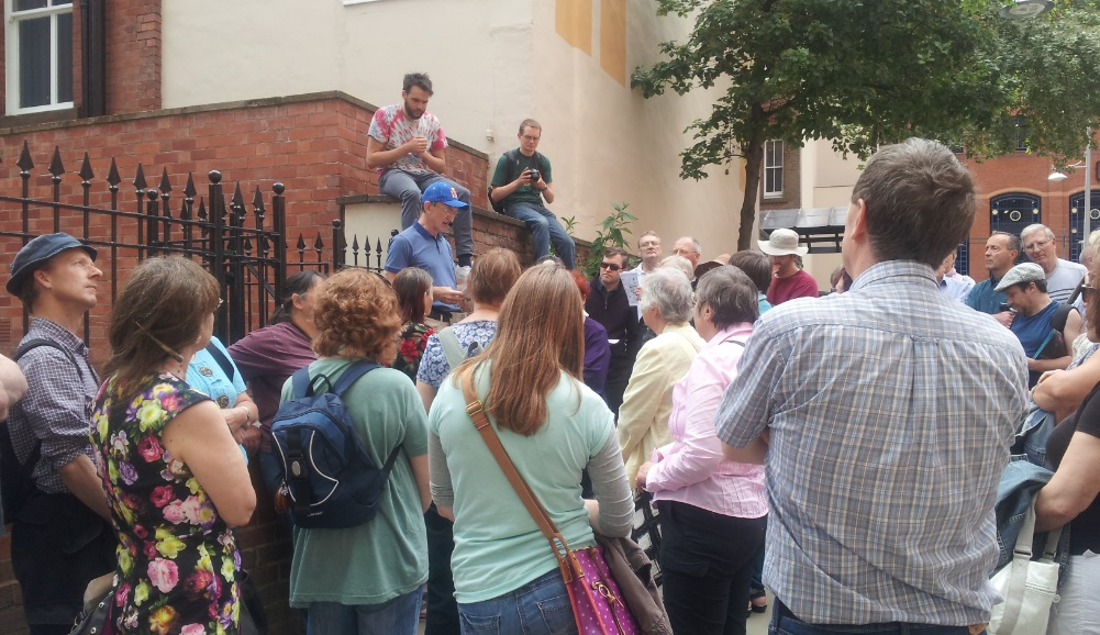 An incredible turnout for Chris Richardson's Chartist walk in Nottingham on 1 June.